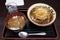 かき揚げそば+カレー丼(550円)