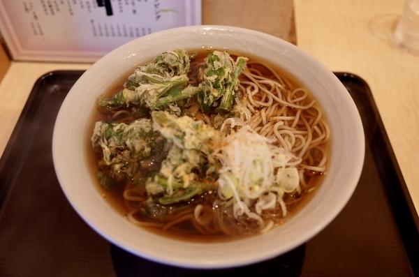 春菊天そば(420円)+大盛[1.5倍](100円)