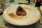 真鯛のポワレ甲殻類クリームソースチーズリゾット添え