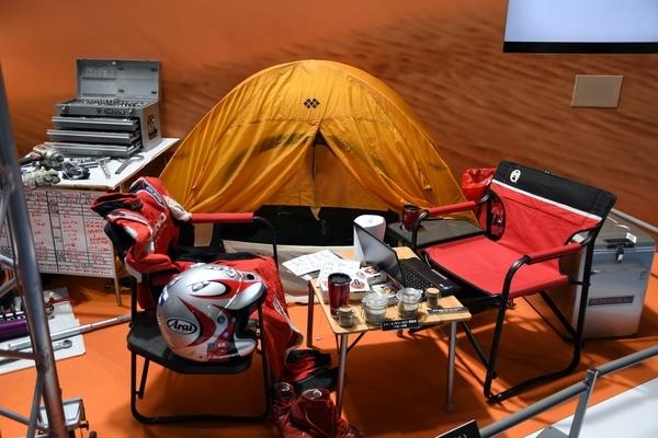 パリダカのキャンプ再現