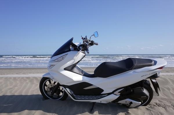 九十九里浜とPCX150