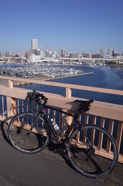 海老川大橋とマイチャリ