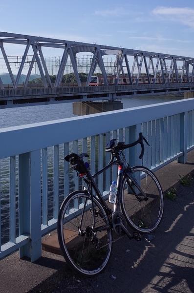 荒川河口橋のマイチャリ