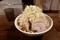 らーめん豚一切れ(980円)野菜マシマシ・ネギマシマシ