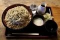 地粉切り新蕎麦【特盛700g】(950円)+鯖出汁変更(0円)+とろろ(100円)