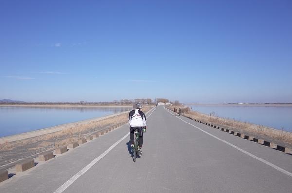 谷中湖を走る