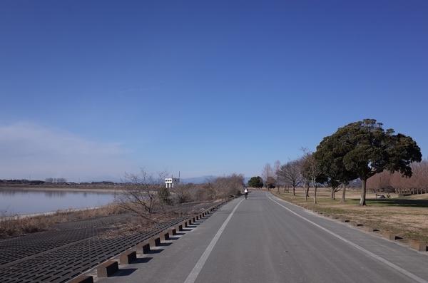 谷中湖を西に進む