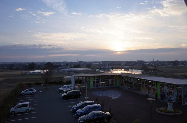 展望台から見た夕陽