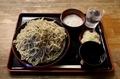 地粉切り【大盛550g】(800円)+とろろ(100円)+鯖出汁変更(0円)