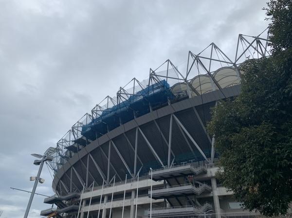 改修中のカシマサッカースタジアム