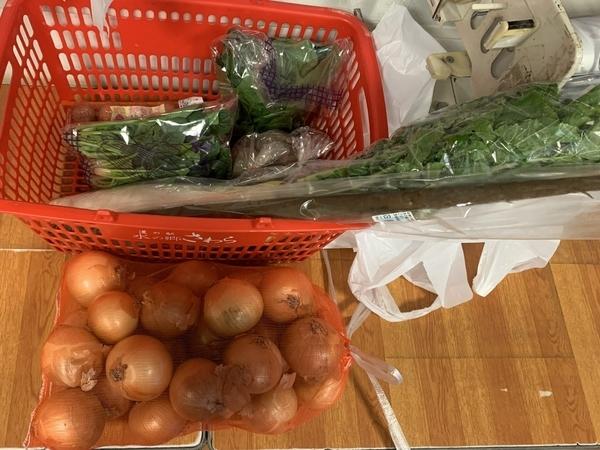 購入したお土産の野菜
