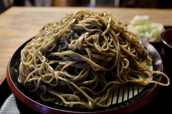 大盛の黒胡麻ダッタン蕎麦湯