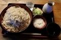 蕎麦【特盛700g】(800円)+とろろ(100円)+鯖出汁変更(0円)