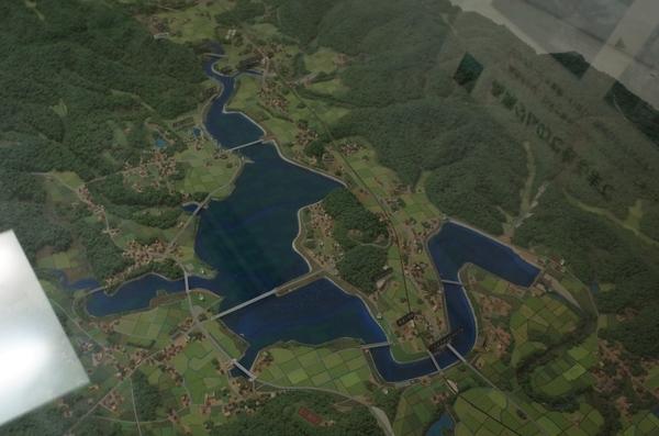 高滝ダムのジオラマ