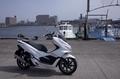 PCX150と船橋漁港