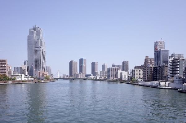 勝鬨橋から見た隅田川