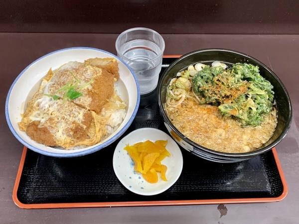 満腹カツ丼セット(690円)+単品・春菊天(130円)