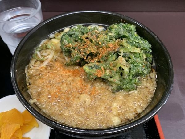 セットの蕎麦+春菊天