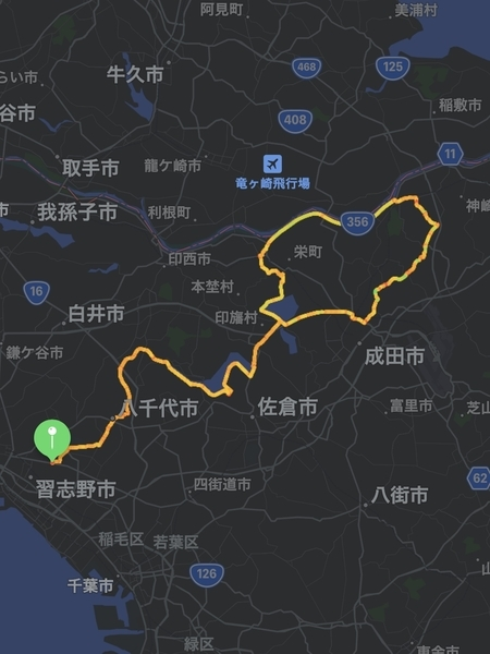 行程図(地図)