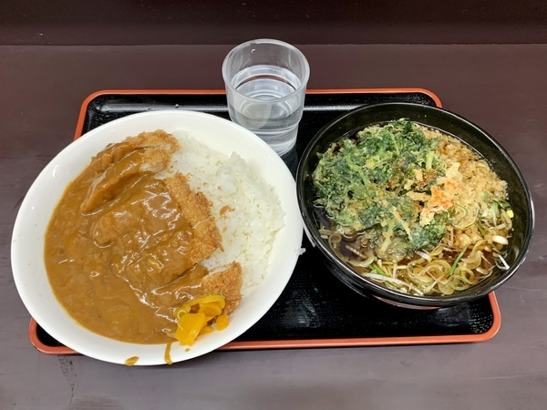 満腹カツカレーセット(690円)+単品・春菊天(130円)