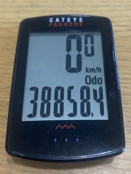 サイクルメーターのOdoメーター38858.4km