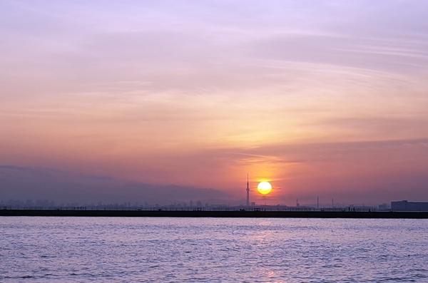 夕陽とスカイツリー3
