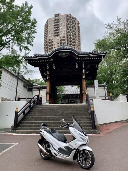 善福寺勅使門とPCX150