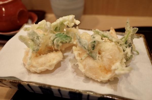 海老とみつ葉の天ぷら