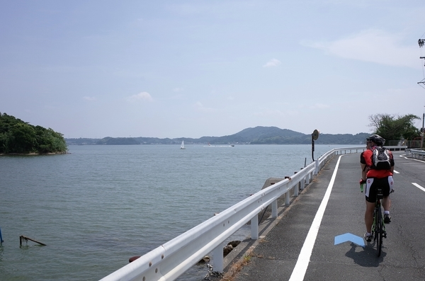 浜名湖を南下する