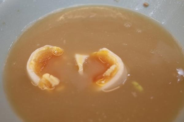 味玉パッカンしたスープ