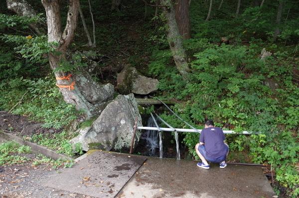 湧水を発見