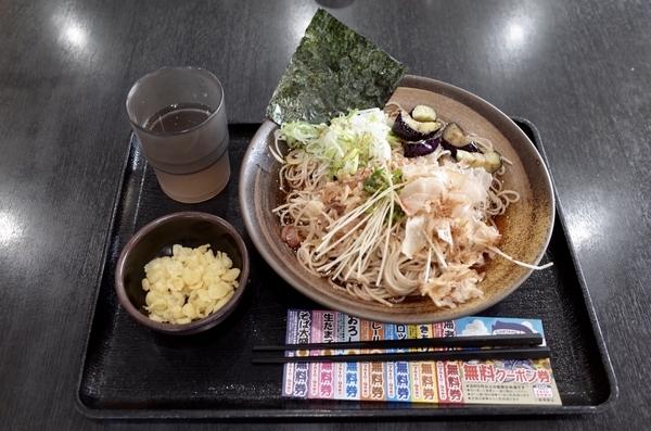 薬味そば(500円)+大盛り(100円)