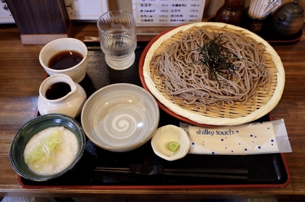 ざるとろろ(770円)+お蕎麦の大盛(150円)