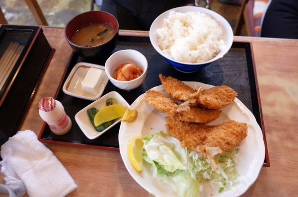 あじフライ定食(750円)