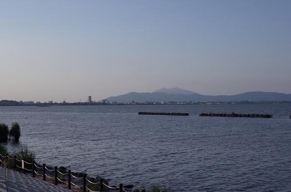 土浦の街が見える