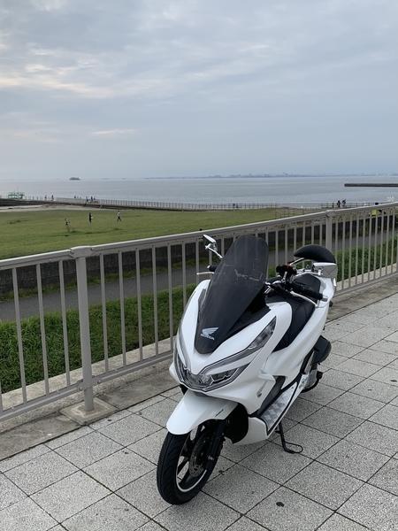 海浜大通り展望駐車場とPCX150