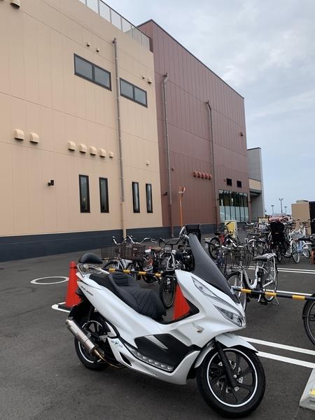 臨時バイク置き場