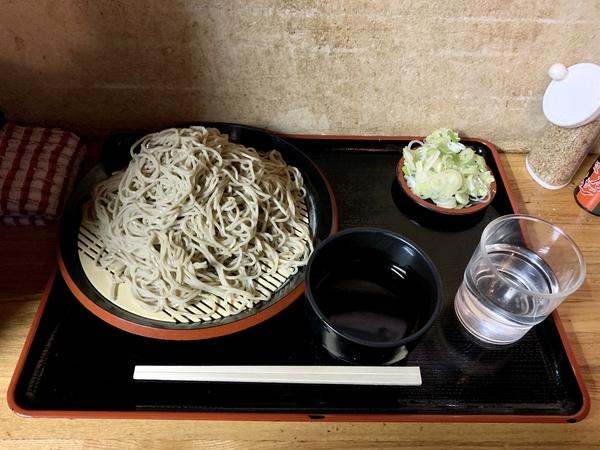 地粉切り【並盛350g】(650円)+鯖出汁変更(0円)。