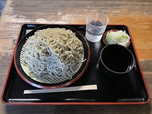 地粉切り【大盛500g】(800円)+鯖出汁変更(0円)
