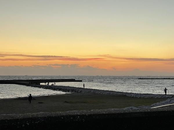 検見川浜の夕陽