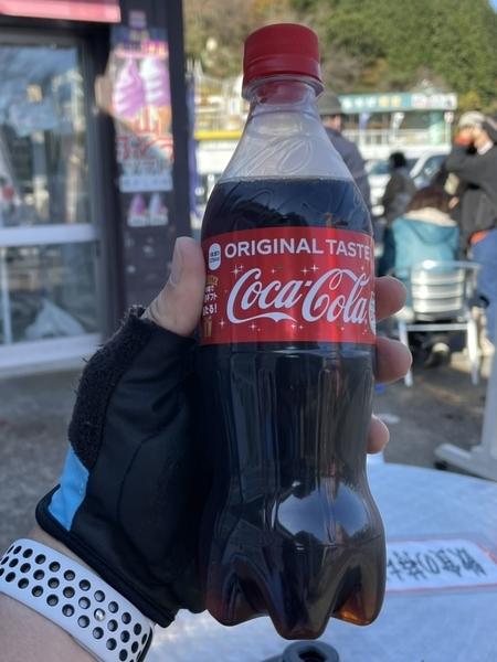 コーラで糖分補給