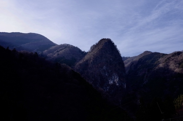 日原の山々