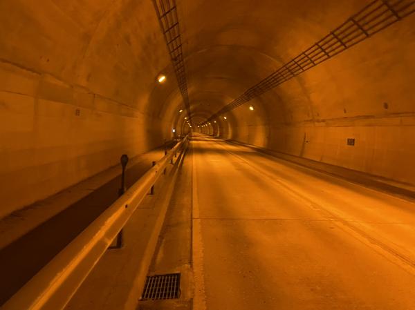 日原トンネル(1107m)
