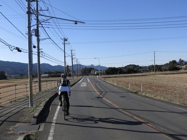 長狭街道を走る