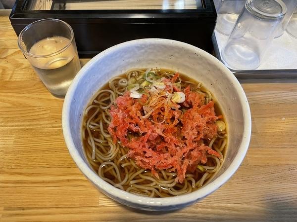 紅生姜天ぷらそば(440円)+大盛り(100円)