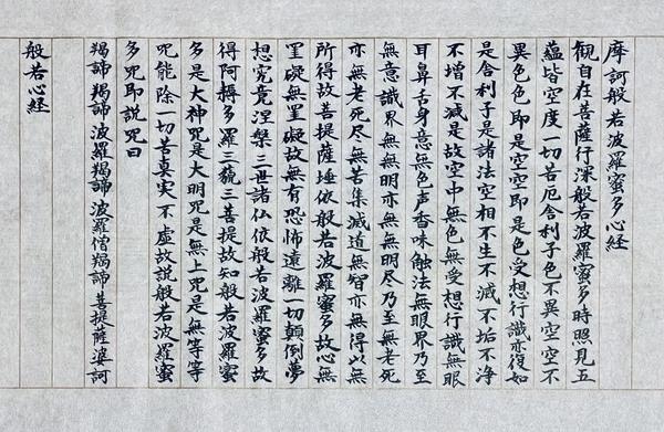 般若心経写経(岸本磯一氏手本)