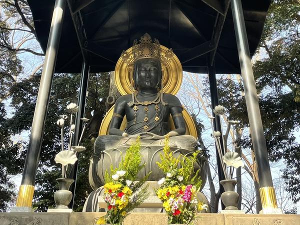 天和三年(1683)建立銅造大日如来坐像