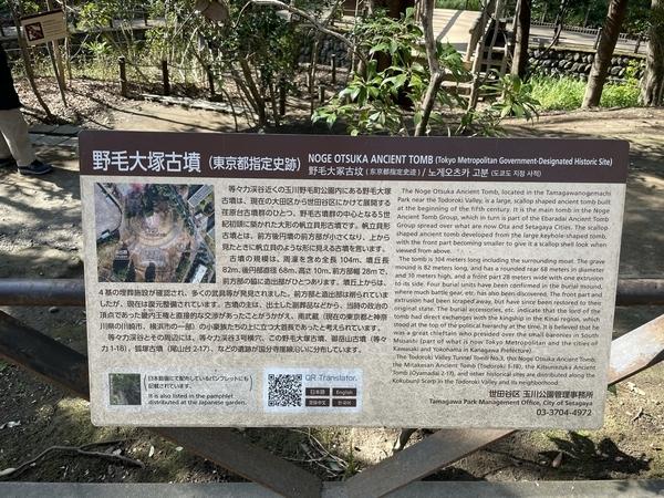 野毛大塚古墳の案内図