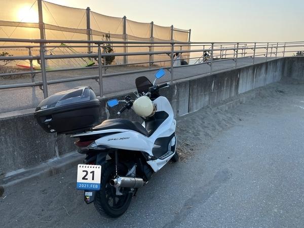 検見川浜とPCX150