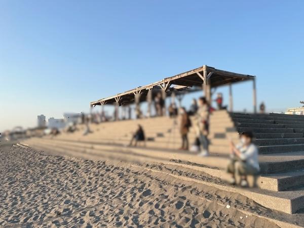 検見川浜の人出